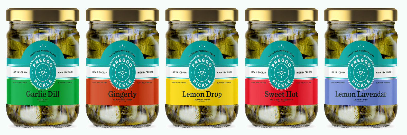 Preggo Pickle Mix and Match 5 Pack